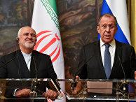 Министр иностранных дел РФ Сергей Лавров и министр иностранных дел Исламской Республики Иран Мухаммад Джавад Зариф