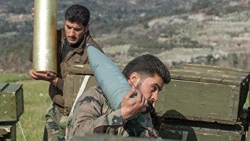 Сирийская армия в провинции Идлиб