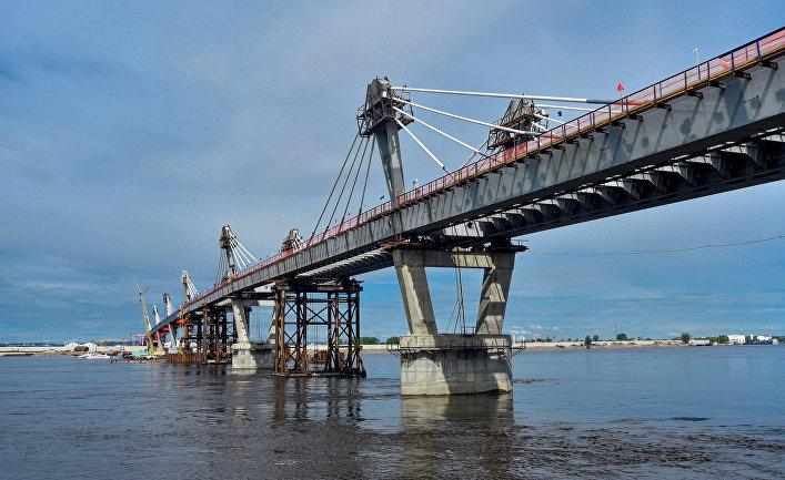 Стыковка международного моста Благовещенск - Хэйхэ