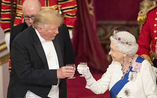 Президент США Дональд Трамп и королева Елизавета II