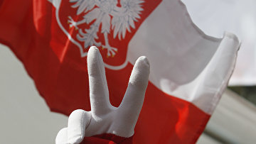 Акции протеста перед зданием Сейма в Варшаве, Польша