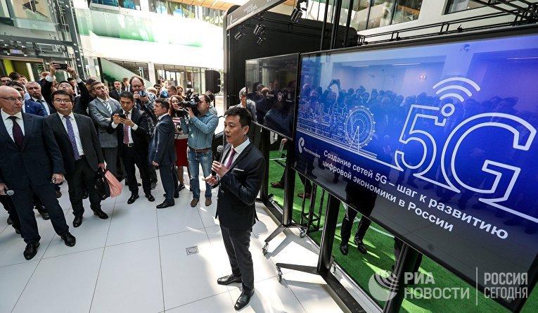 Представитель Хуавей на открытие опытной зоны сети нового поколения технологии 5G в Иннополисе