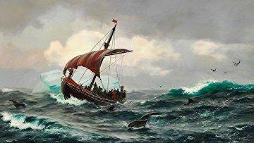 «Лето напобережье Гренландии около 1000года», Карл Расмуссен