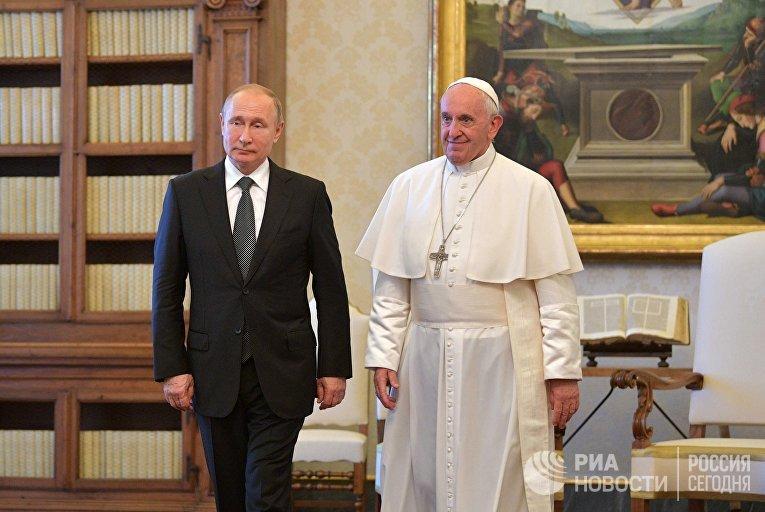 Визит президента РФ В. Путина в Ватикан