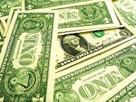 Банкноты номиналом 1 доллар США.