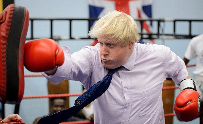 Борис Джонсон боксирует