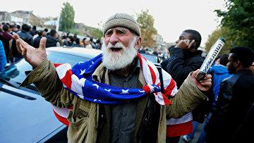 Очередь за грузинским гражданством в Тбилиси