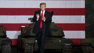Президент Дональд Трамп выступает на заводе Lima Army Tank в Лиме