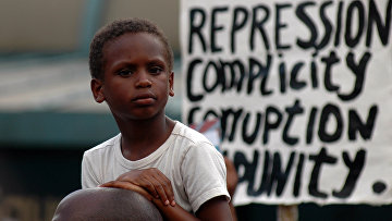 Акция протеста в Нью-Йорке против оправдания Джорджа Циммермана