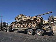 Колонна турецких военных автомобилей в провинции Идлиб, Сирия