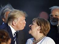Президент США Дональд Трамп и канцлер Германии Ангелу Меркель