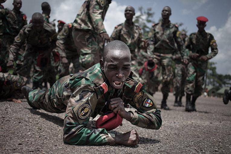 Военные Центральноафриканской Республики, которых тренируют инструкторы из России