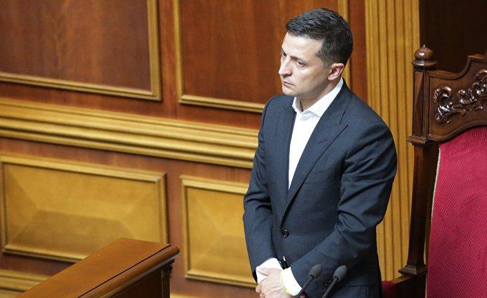 Первое заседание Верховной рады Украины нового созыва
