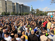 Участники акции протеста в Москве, 31 августа 2019 года