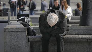 Мужчина в центре Киева, Украина