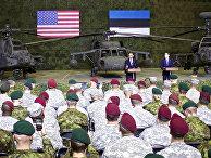Президент США Барак Обама и премьер-министр Эстонии Таави Рыйвас