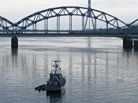Мост в Риге, Латвия