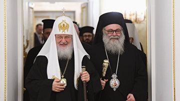 Патриарх Кирилл встретился с зарубежными религиозными деятелями