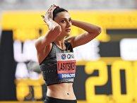 Российская спортсменка Мария Ласицкене в финальных соревнованиях по прыжкам в высоту среди женщин на чемпионате мира по легкой атлетике 2019 в Дохе