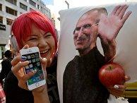 Фанатка Apple в Японии