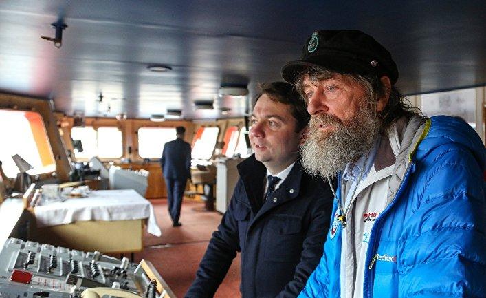 Андрей Чибис (слева) и путешественник Федор Конюхов