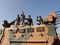 Бойцы Свободной сирийской армии в Турецкой провинции Шанлыурфа