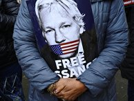 Акция в поддержку Дж. Ассанжа в Лондоне