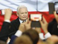 Лидер правящей партии Польши Ярослав Качиньский