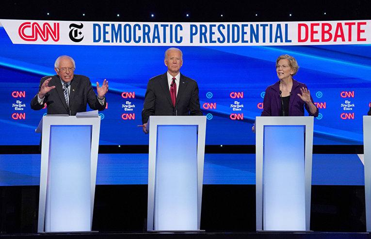 Участники президентских дебатов от Демократической партии