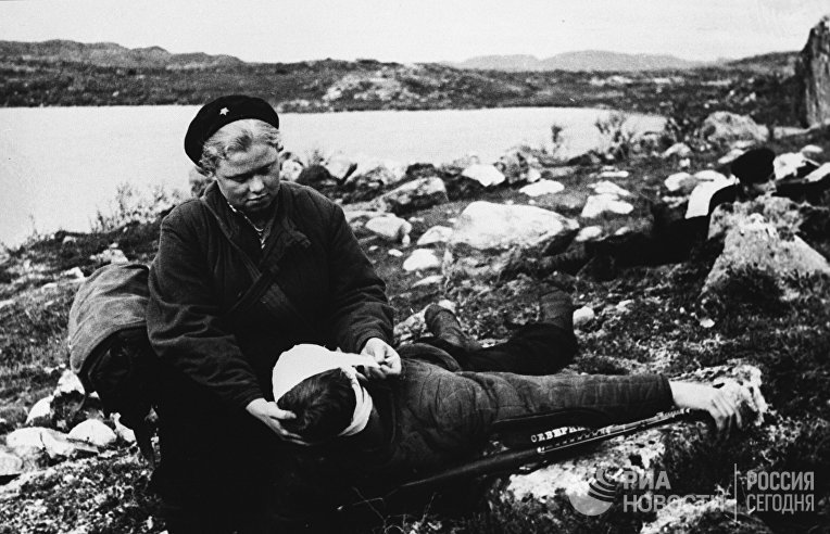 Освобождение Северной Норвегии. Санинструктор Нина Буракова вынесла с поля боя 150 раненых бойцов