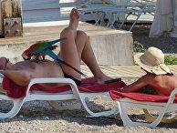 Российские туристы во время отдыха в Анталье, Турция