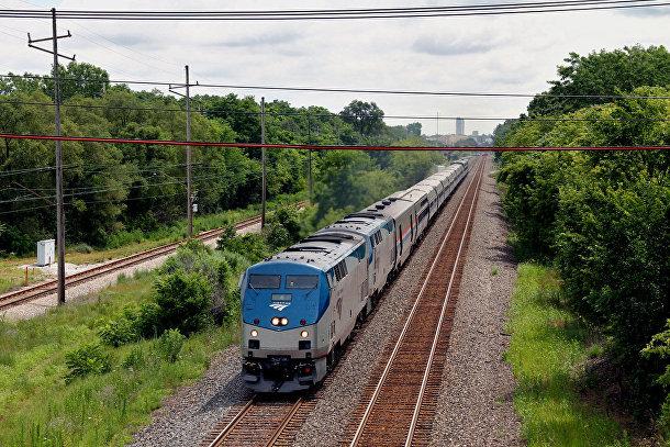 Поезд в США
