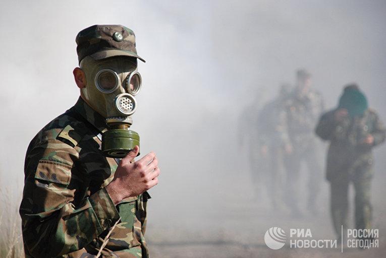 Учения по защите от химического и ядерного заражения