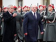 Александр Лукашенко во время визита в Вену, Австрия