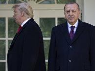 Президент США Дональд Трамп и президент Турции Тайип Эрдоган