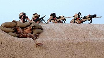 Снайперы из полка шотландской пехоты «Черная стража» на позиции в Афганистане