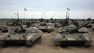 Танки Т-64БМ на Гончаровском полигоне, Украина