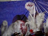 Предвыборный плакат президента Боливии Эво Моралеса