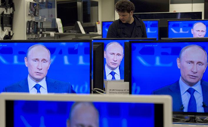 """Трансляция """"Прямой линии с президентом России Владимиром Путиным"""""""