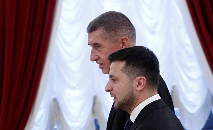 Президент Украины Владимир Зеленский и премьер-министр Чехии Андрей Бабиш