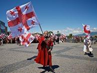 Праздничное шествие в День святости семьи в Тбилиси