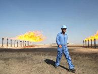 Инженер на нефтяном месторождении в Басре, Ирак