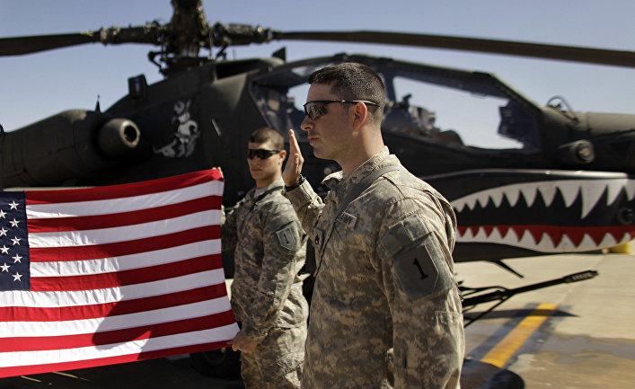 Военные ВВС США на военной базе в Ираке