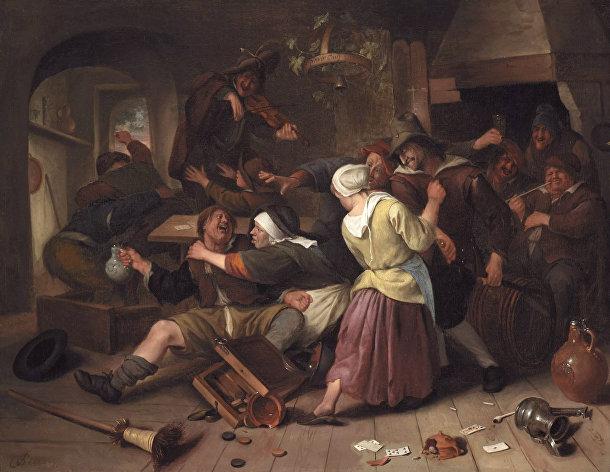Jan Steen - ссора в трактире
