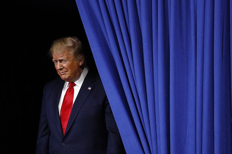 Президент США Дональд Трамп во время избирательной кампании в городе Хершей