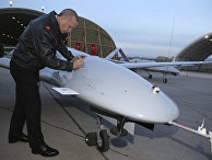 Президент Турции Реджеп Тайип Эрдоган на военной авиабазе в Батмане, Турция