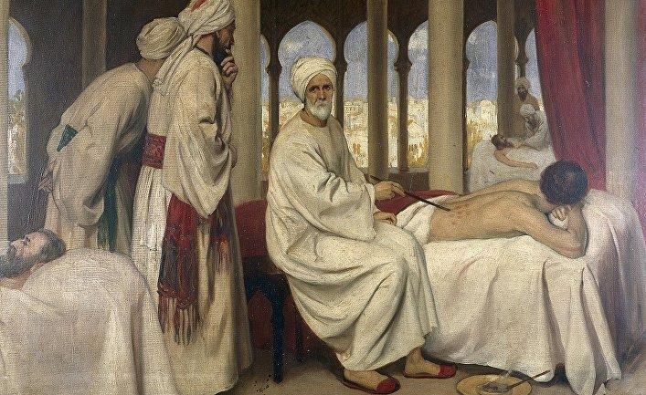 Эрнест Борд «Абу-ль-Касим аз-Захрави осматривает больного в лазарете Кордовы в 1100 году»