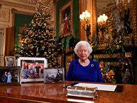 Королева Елизавета записала свое ежегодное Рождественское послание в Виндзорском замке, в графстве Беркшир
