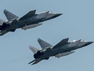 """Истребители МиГ-31 с гиперзвуковыми ракетами """"Кинжал"""""""
