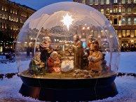 Рождественский вертеп установили в Санкт-Петербурге